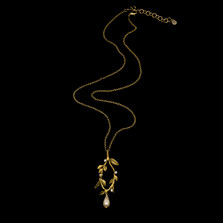 "Victorian Vine Leaf Oval 20"" Pendant Necklace | Nature Jewelry | Michael Michaud | 9303BZ"