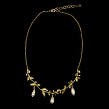 "Victorian Vine Leaf 16"" Necklace   Nature Jewelry   Michael Michaud   9302BZ"