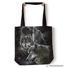 """Wolf Moon """"Eclipse Wolves"""" 18"""" Tote Bag 