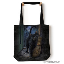 """Black Cat 18"""" Tote Bag 