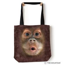 "Baby Orangutan Big Face 18"" Tote Bag | The Mountain | 9735872"