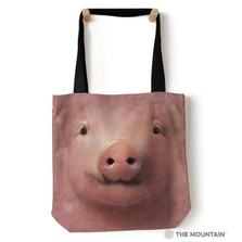 """Pig Face 18"""" Tote Bag   The Mountain   9732442"""