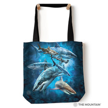 """Shark Collage 18"""" Tote Bag 