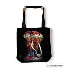 "Painted Elephant 18"" Tote Bag 