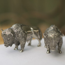 Bison Salt Pepper Shakers | Vagabond House | VHCV976 -2