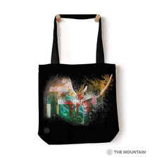 "Painted Rhino 18"" Tote Bag 