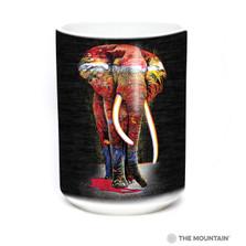 Painted Elephant 15oz Ceramic Mug | The Mountain | 57632209011 | Elephant Mug