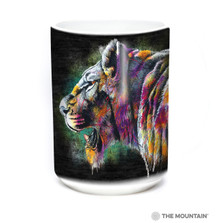 Painted Lion 15oz Ceramic Mug | The Mountain | 57632309011 | Lion Mug