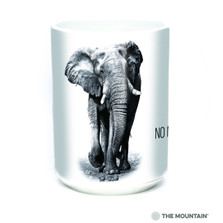 Elephant 15oz Ceramic Mug | No More Poaching | The Mountain | 57555009011 | Elephant Mug