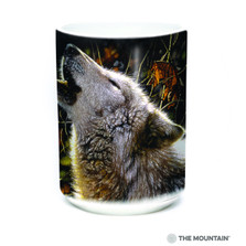 Wolf Howling 15oz Ceramic Mug | Song of Autumn | The Mountain | 57628109011 | Wolf Mug