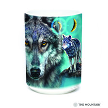 Northstar Wolves 15oz Ceramic Mug | The Mountain | 57628409011 | Wolf Mug