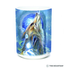 Wolf Howl 15oz Ceramic Mug | The Mountain | 57628009011 | Wolf Mug
