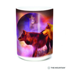 Wolf 15oz Ceramic Mug | Spirit of the Moon | The Mountain | 57628509011 | Wolves Mug