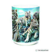 White Tiger 15oz Ceramic Mug | Night Tiger Collage | The Mountain | 57627309011