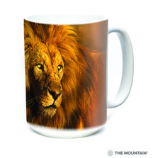 Proud King Lion 15oz Ceramic Mug | The Mountain | 57627209011 | Lion Mug