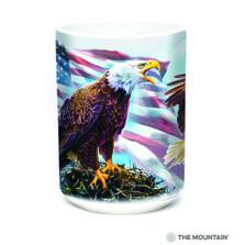 American Eagle Flag 15oz Ceramic Mug | The Mountain | 57619709011 | Bald Eagle Mug