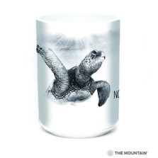 Sea Turtle 15oz Ceramic Mug | No More Plastic | The Mountain | Sea Turtle Mug