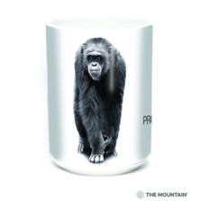Chimp 15oz Ceramic Mug | Protect my Habitat | The Mountain | 57555309011 | Chimpanzee Mug