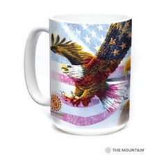 Eagle Flag Collage 15oz Ceramic Mug | The Mountain | 57820709011 | Bald Eagle Mug