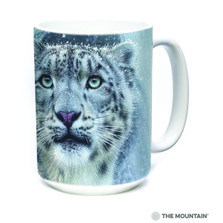 Snow Leopard Fortress 15oz Ceramic Mug | The Mountain | 57597309011