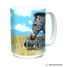 Zebra Portrait 15oz Ceramic Mug | The Mountain | 57596509011 | Zebra Mug