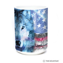 Patriotic Wolfpack 15oz Ceramic Mug | The Mountain | 57822809011 | Wolf Mug