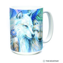 Wolf 15oz Ceramic Mug | Unforgettable Journey | The Mountain | 57573809011 | Wolf Mug
