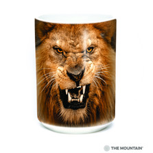 Roaring Lion Big Face 15oz Ceramic Mug | The Mountain | 57374209011 | Lion Mug