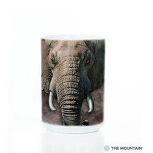 Elephant Face 15oz Ceramic Mug | The Mountain | 57326009011 | Elephant Mug