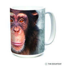 Chimpanzee Face 15oz Ceramic Mug | The Mountain | 57357209011 | Chimp Mug