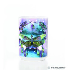 Dragonfly Dreamcatcher 15oz Ceramic Mug | The Mountain | 57339709011 | Dragonflies Mug
