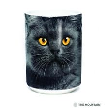 Black Cat Face 15oz Ceramic Mug | The Mountain | 57366609011 | Cat Mug