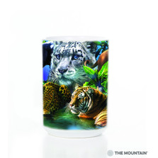 Big Jungle Cats 15oz Ceramic Mug | The Mountain | 57331509011 | Leopard Mug | Lion Mug | Tiger Mug | Panther Mug