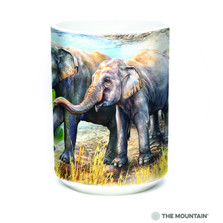 Asian Elephant Collage 15oz Ceramic Mug | The Mountain | 57597909011 | Elephant Mug