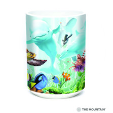 Seavillians Sea Life 15oz Ceramic Mug | The Mountain | 57596809011 | Dolphin Mug | Sea Turtle Mug | Fish Mug
