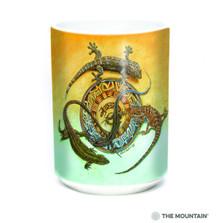 Mimbre Journey Lizards 15oz Ceramic Mug | The Mountain | 57594609011 | Lizard Mug