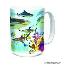 Reef Sharks 15oz Ceramic Mug | The Mountain | 57594309011 | Shark Mug | Fish Mug