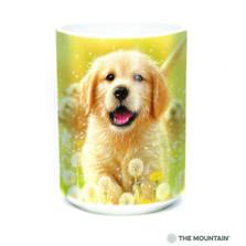 Golden Retriever Puppy 15oz Ceramic Mug | The Mountain | 57593309011 | Golden Puppy Mug
