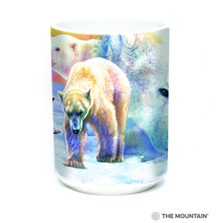 Sunrise Polar Bear Collage 15oz Ceramic Mug | The Mountain | 57589509011 | Polar Bear Mug