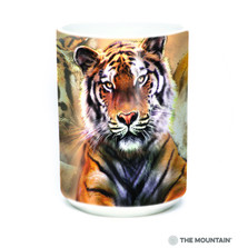 Resting Tiger Collage 15oz Ceramic Mug | The Mountain | 57588909011 | Tiger Mug