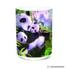 Panda Cuddles 15oz Ceramic Mug | The Mountain | 57588609011 | Panda Bear Mug