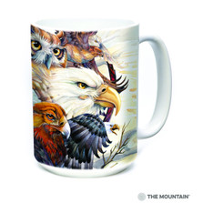 Sky Kings Birds of Prey 15oz Ceramic Mug | The Mountain | 57434609011 | Owl Mug | Eagle Mug