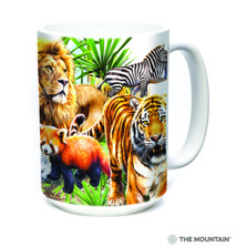 Wildlife Zoo Collage 15oz Ceramic Mug | The Mountain | 57431209011 | Wildlife Mug