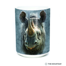 Black Rhino 15oz Ceramic Mug | The Mountain | 57350209011 | Rhinoceros Mug