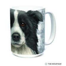 Border Collie Dog Face 15oz Ceramic Mug | The Mountain | 57360609011 | Border Collie Mug