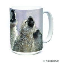 White Wolves Singing Lessons 15oz Ceramic Mug | The Mountain | 57354009011 | Wolf Mug