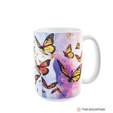 Monarch Butterflies 15oz Ceramic Mug | The Mountain | 57486309011 | Butterfly Mug