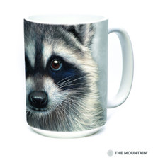 Raccoon Face 15oz Ceramic Mug | The Mountain | 57354509011 | Raccoon Mug