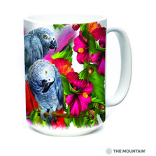 African Gray Parrot Mates 15oz Ceramic Mug | The Mountain | 57408709011 | Parrots Mug