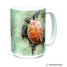 Sea Turtle Climb 15oz Ceramic Mug | 57594709011 | The Mountain | Turtle Mug